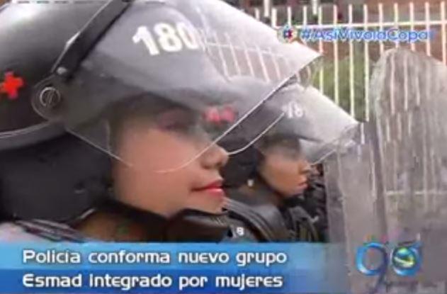 Policía presentó el nuevo grupo Esmad femenino para la ciudad