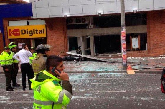 Dos explosiones dejó cinco heridos en el norte de Bogotá