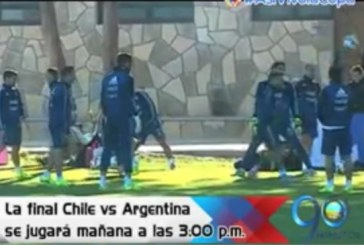 Así se preparan los equipos para la final de la Copa América 2015