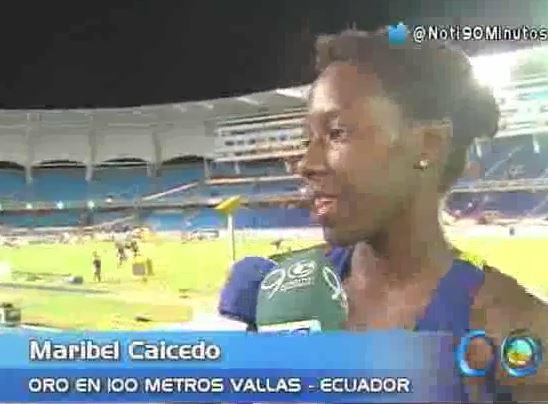 Maribel Caicedo ganó el primer oro para Ecuador en el Mundial de Atletismo