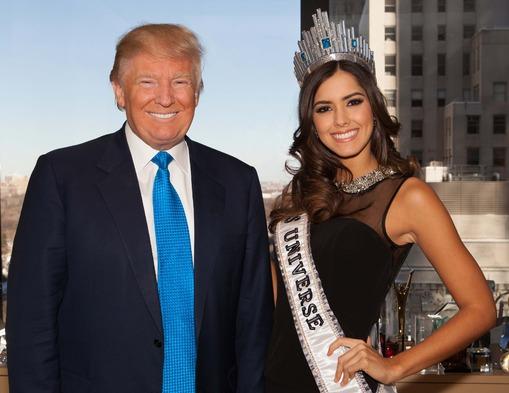 """Donald Trump tildó a la colombiana Paulina Vega de """"hipócrita"""""""