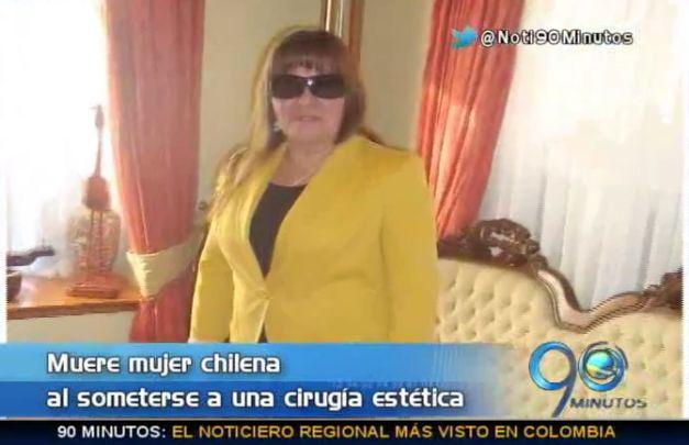 Chilena murió por cirugía estética en clínica de Cali