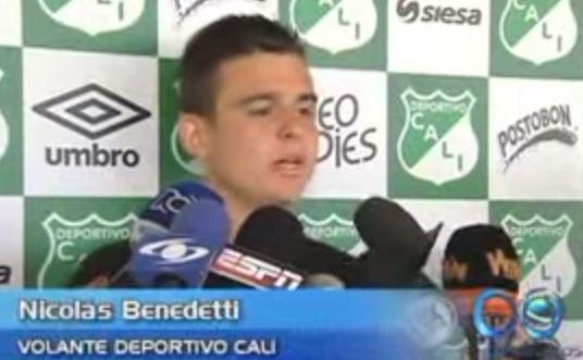 Nicolas Benedetti, llegó con el gol debajo de la manga ante Equidad