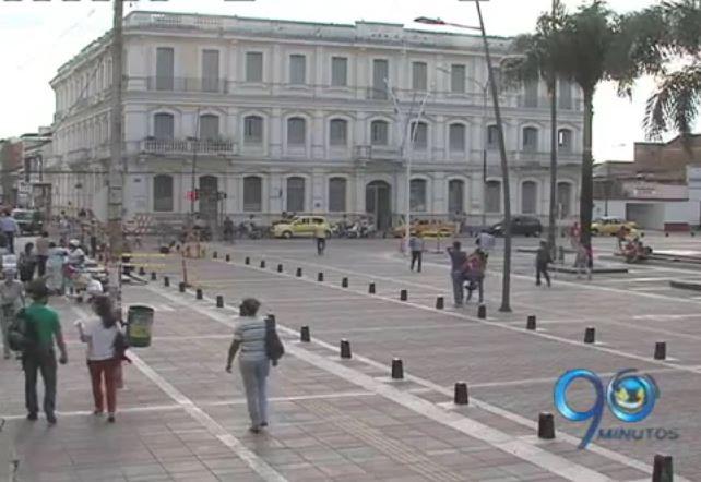 Avanzan obras de peatonalización en calles del centro de Palmira