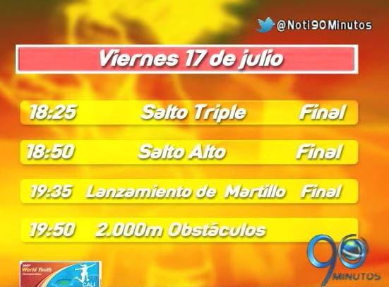 Esta es la programación del viernes y fin de semana del Mundial