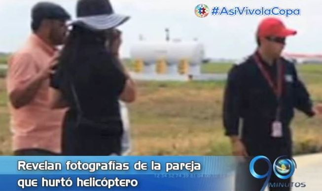Revelan fotografías de pareja que robó helicóptero