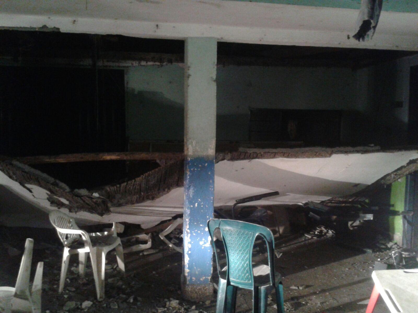 Heridos ocho niños al desplomarse el techo de una fundación en Palmira