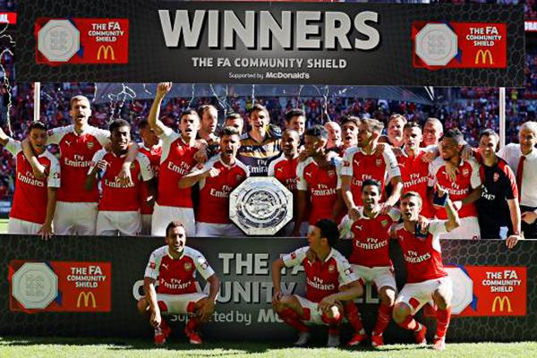 Arsenal se coronó campeón de la Supercopa inglesa tras vencer a Chelsea