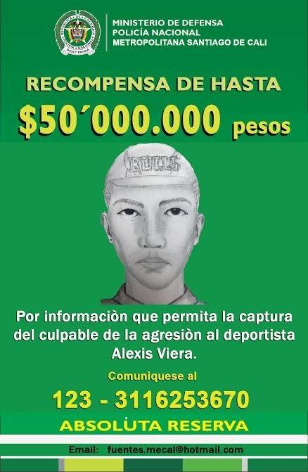 Revelan retrato hablado del presunto agresor de Alexis Viera