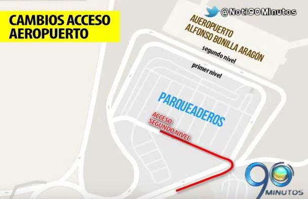 Mire cómo quedaron los cambios viales en el aeropuerto Alfonso Bonilla