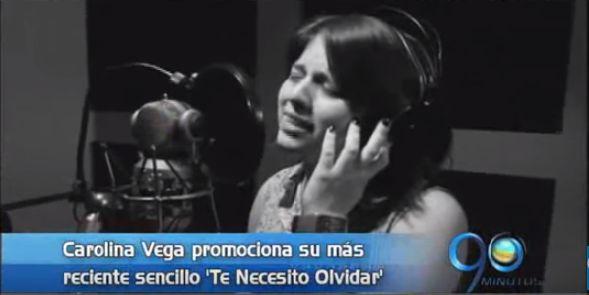 Carolina Vega promociona su más reciente sencillo 'Te Necesito Olvidar'