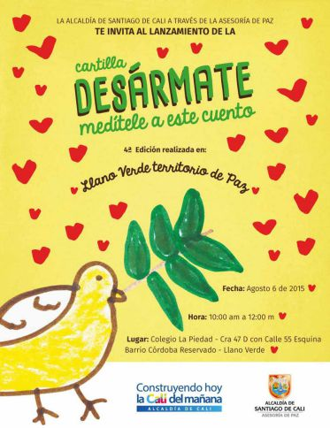Niños de Llano Verde verán sus escritos en 'Desármate, medítele a este cuento'