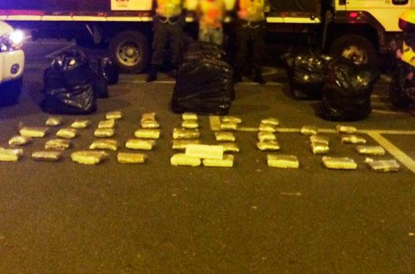 390 kilos de marihuana fueron incautados por operativos en las vías del Valle