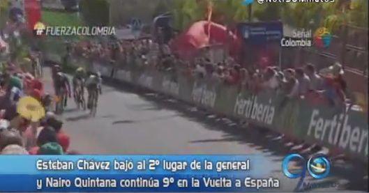 El colombiano Esteban Chávez perdió el liderato de la Vuelta a España