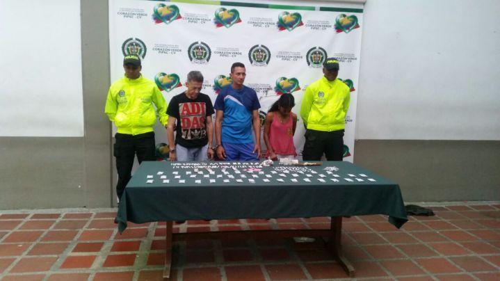 Cinco personas capturadas por tráfico de estupefacientes