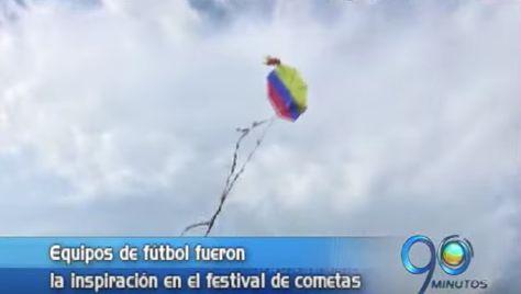 Equipos de fútbol fueron los protagonistas del Festival de Cometas en Mariano Ramos