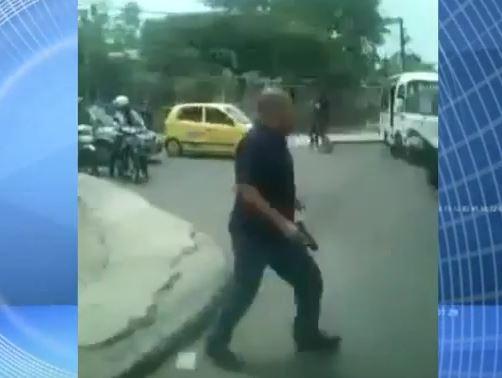 Polémica por presencia de armas de fuego en operativo del Tránsito
