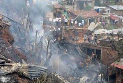 Dos lesionados deja el Incendio de viviendas en el Jarillón del río Cauca