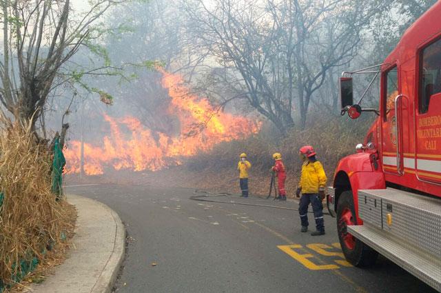 Incendio en sector de Dapa, Yumbo, deja 500 hectáreas consumidas