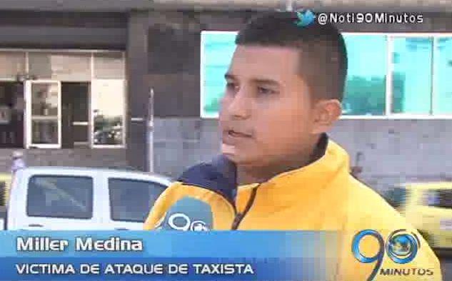 Taxista atacó a machete a su pasajero después de un reclamo
