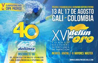 El XVI Torneo Nacional de Interclubes: Delfín de Oro, dará inicio mañana en Cali.