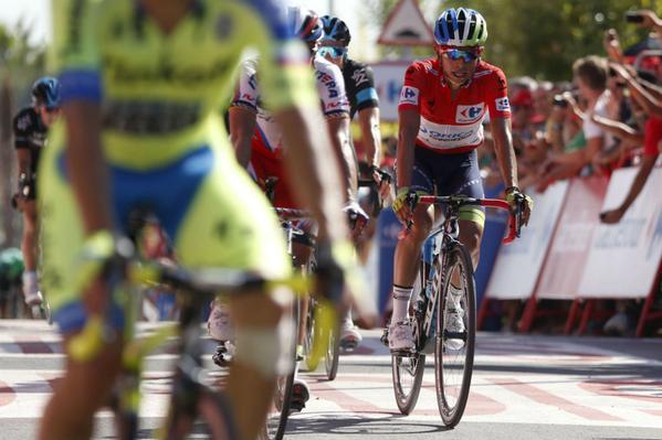 Chávez sigue líder y Quintana subió puestos en la Vuelta a España