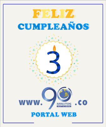 El portal web 90minutos.co cumple 3 años junto a ustedes