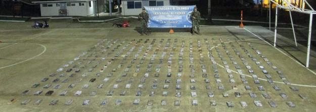 Armada Nacional incauto más de 300 kilogramos de cocaína en el Choco