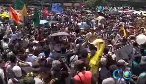 Estudiantes de Univalle lideraron marcha contra la intervención del HUV