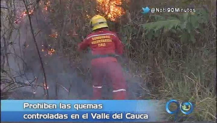 Prohíben las quemas controladas en el Valle del Cauca