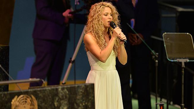 Shakira deleitó al papa con su música en la asamblea de la ONU