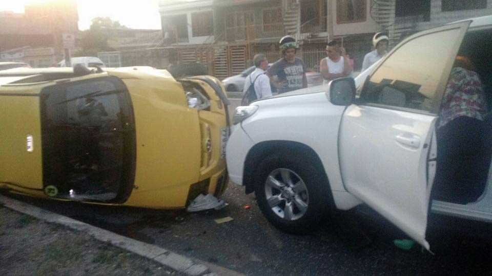 Tres heridos por accidente de tránsito en el oriente de Cali