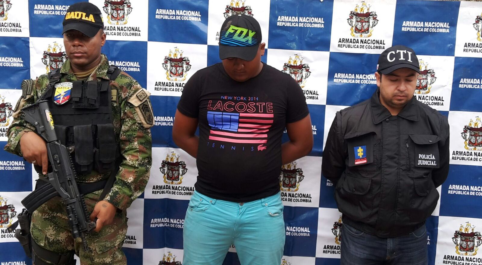 Armada Nacional capturó a dos presuntos miembros de redes de apoyo de las Farc