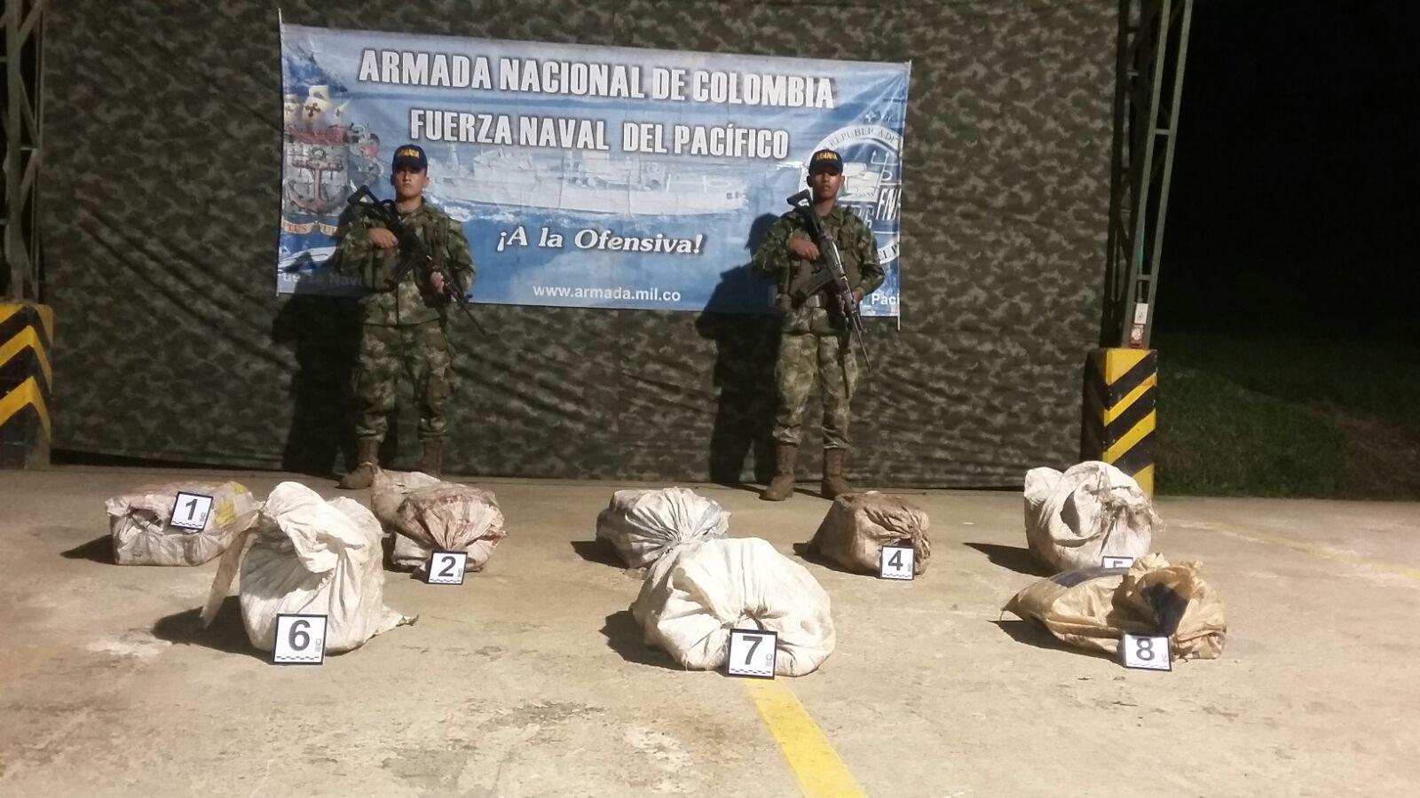 Cayeron cinco millones de dólares en cocaína en el Chocó