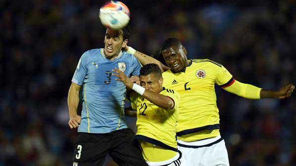 La historia se repite, Uruguay venció por goleada a Colombia en Montevideo
