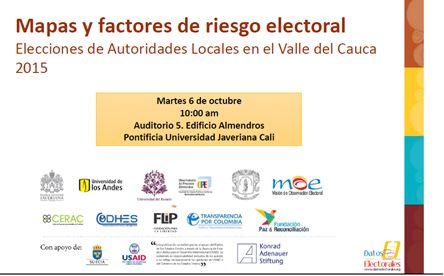 Entregan Informe de riesgos por  fraude, violencia y trashumancia en el Valle del Cauca