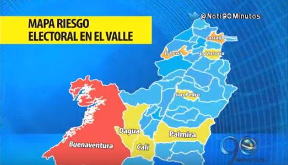 MOE advierte sobre riesgo electoral en ocho municipios del Valle
