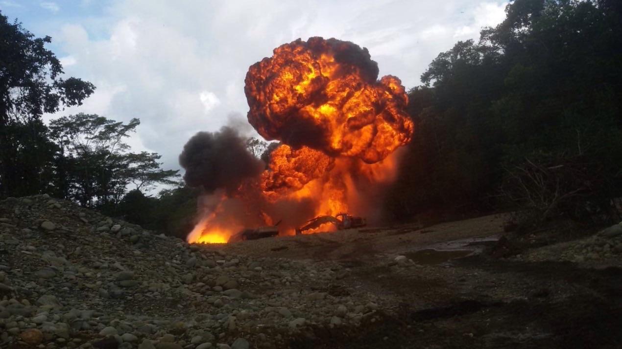 Golpe a la minería ilegal en zona rural del Buenaventura