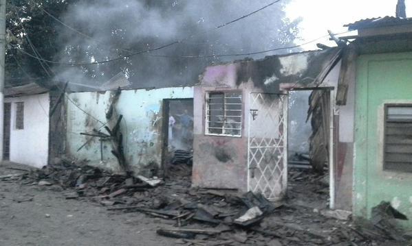 Siete casas destruidas por incendio en Puerto Nuevo al oriente de Cali