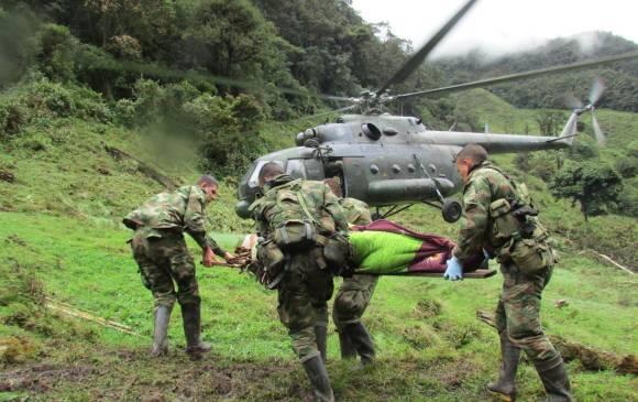 El ELN rodeó con minas antipersona a los soldados asesinados