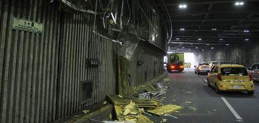 Accidente en la Avenida Colombia deja daños materiales