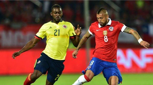 Colombia sumó un merecido punto tras empatar 1-1 con chile