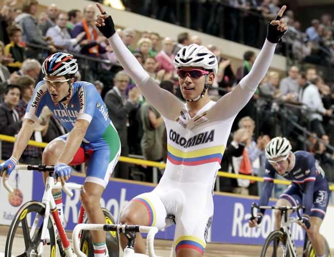 Colombia sumó su primera medalla en la Copa Mundo de Ciclismo de Pista