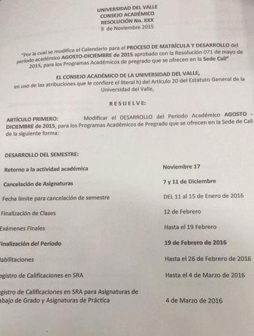 Universidad del Valle retomará clases a partir de este martes hasta febrero