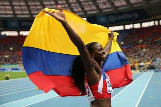 Catherine Ibargüen recibió galardon a mejor deportista del año en Colombia