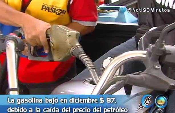 Bajón de la gasolina le traería beneficios a otros bienes