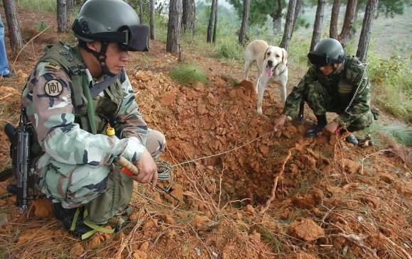 Ejército desactivó un campo minado en municipio de Caldono, Cauca