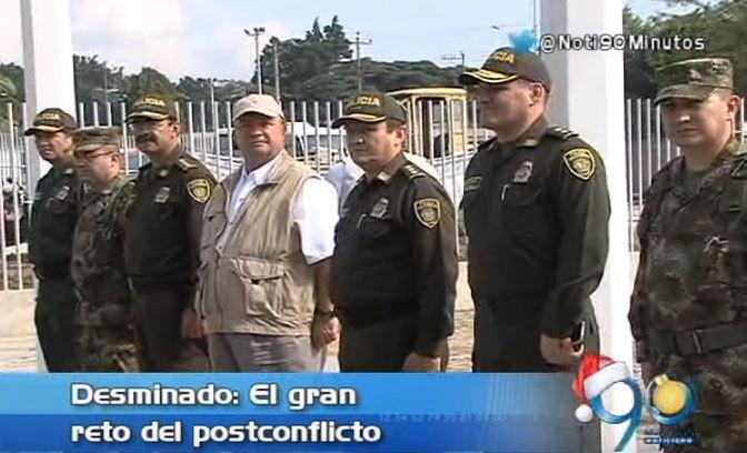 Desminar el país es el gran reto del posconflicto: Ministro de defensa