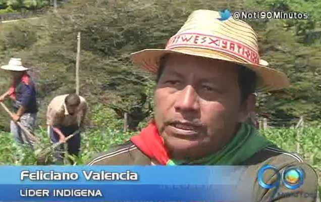Líder indígena Feliciano Valencia paga su condena en una granja agrícola