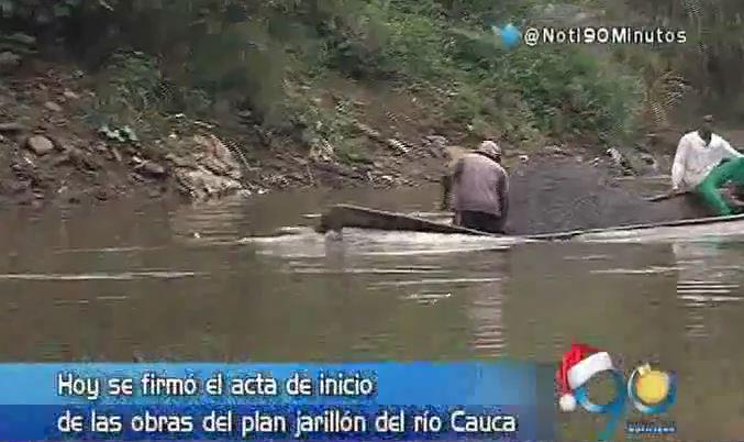 Hoy se firmó el acta de inicio de obras del Plan Jarillón del Río Cauca